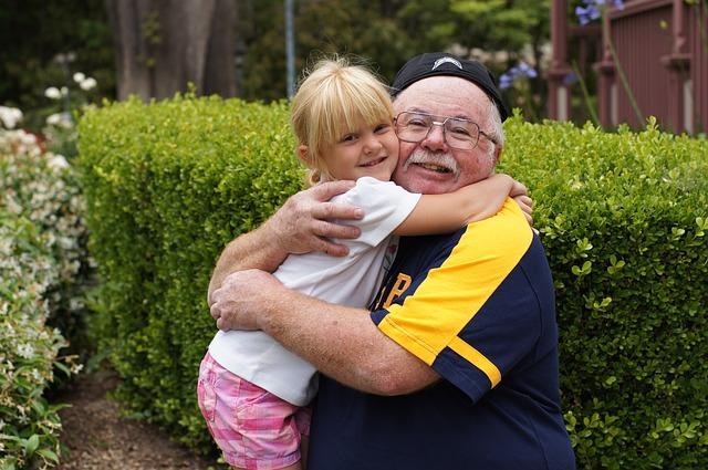 dědeček a vnučka