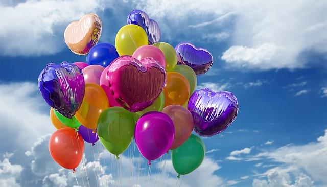 balonky ve vzduchu